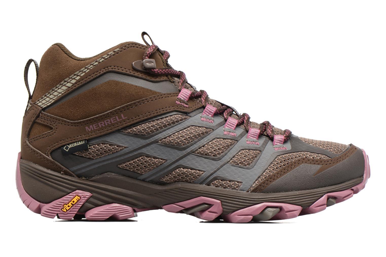 Chaussures de sport Merrell Moab FST Mid Gtx W Marron vue derrière