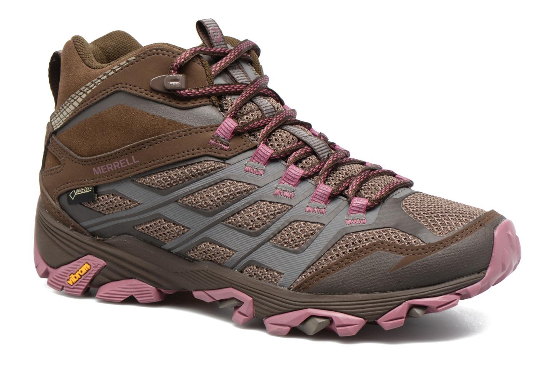 Chaussures de sport Merrell Moab FST Mid Gtx W Marron vue détail/paire
