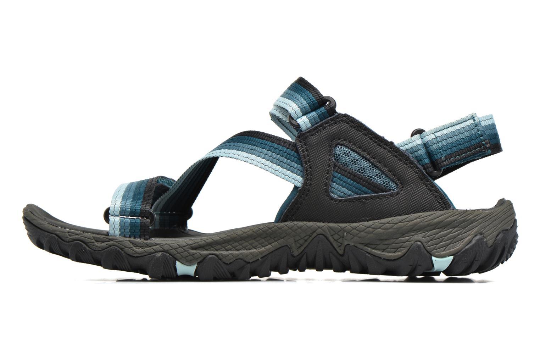 Chaussures de sport Merrell All Out Blaze Web W Bleu vue face