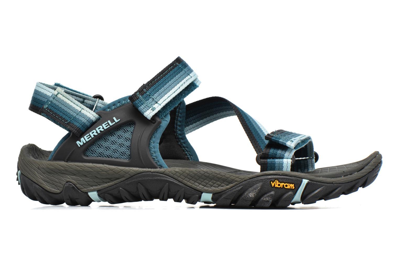 Chaussures de sport Merrell All Out Blaze Web W Bleu vue derrière