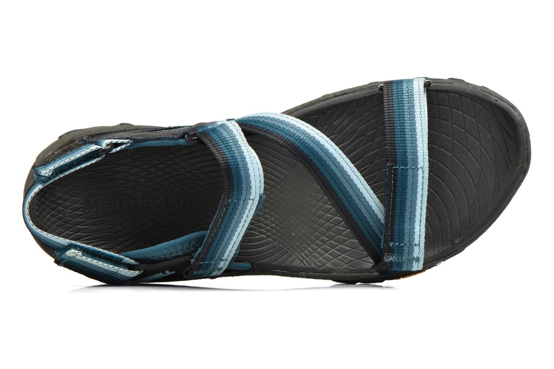 Chaussures de sport Merrell All Out Blaze Web W Bleu vue gauche