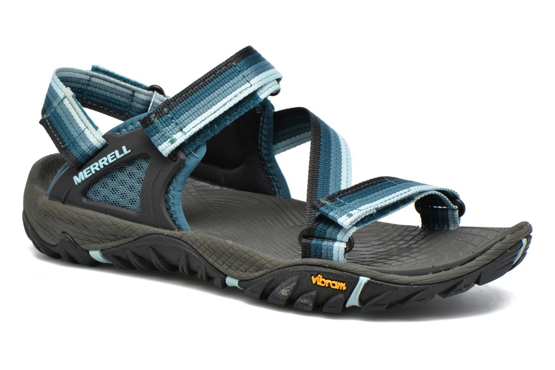 Chaussures de sport Merrell All Out Blaze Web W Bleu vue détail/paire
