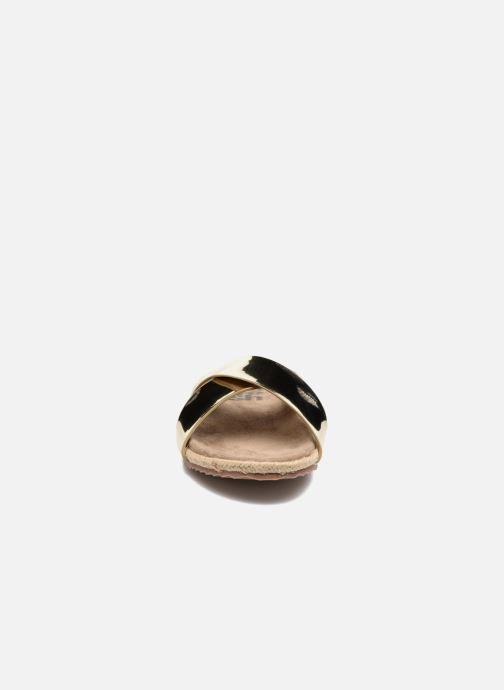 Mules et sabots Refresh Qiwin Or et bronze vue portées chaussures