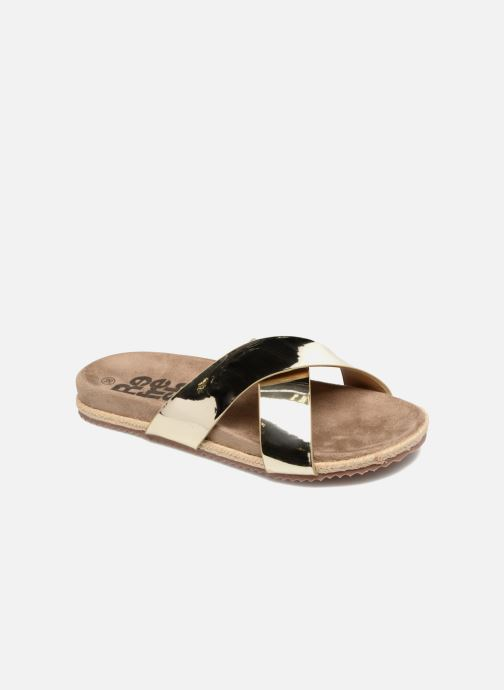 Mules & clogs Refresh Qiwin Bronze and Gold detailed view/ Pair view