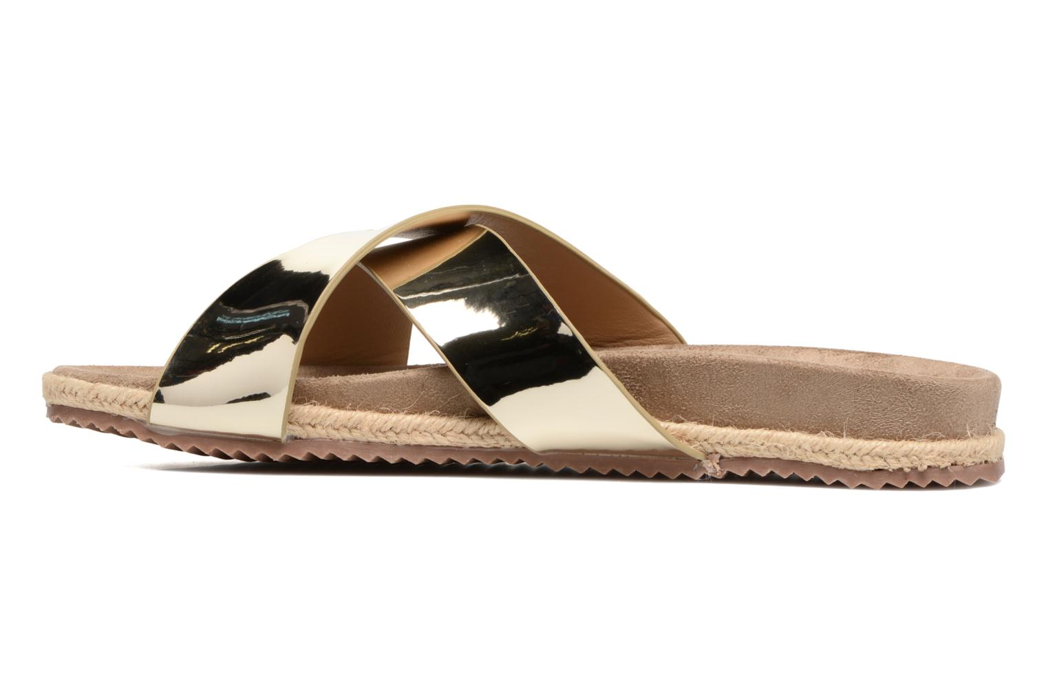 Mules & clogs Refresh Qiwin Bronze and Gold front view