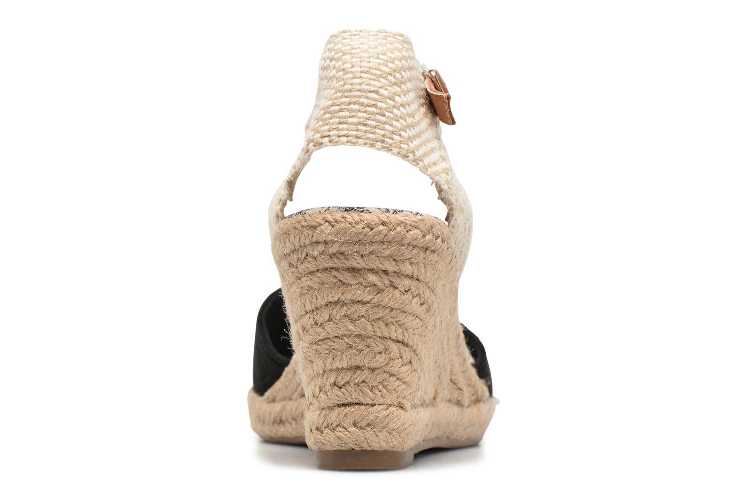 Espadrilles Refresh Malo Black view from the right
