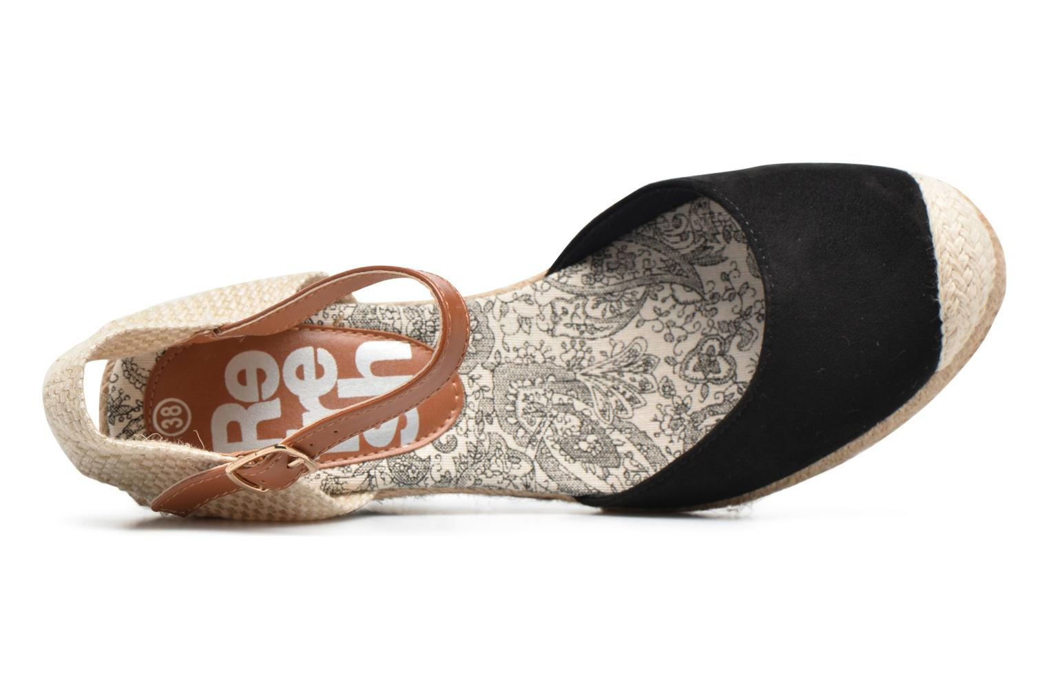 Espadrilles Refresh Malo Black view from the left