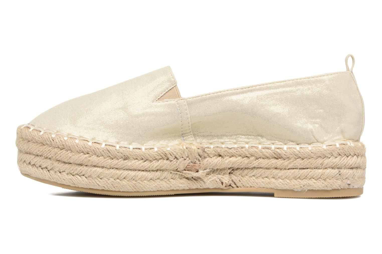 Espadrilles Refresh Sket Or et bronze vue face