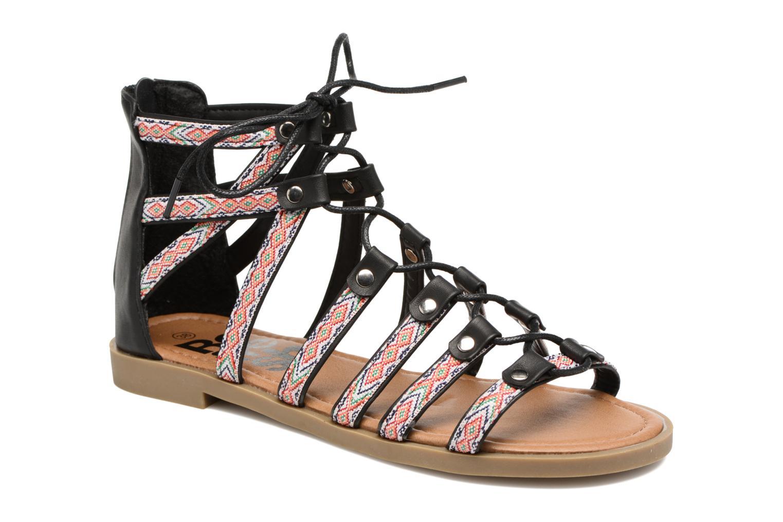 Sandals Refresh Ilna Black detailed view/ Pair view