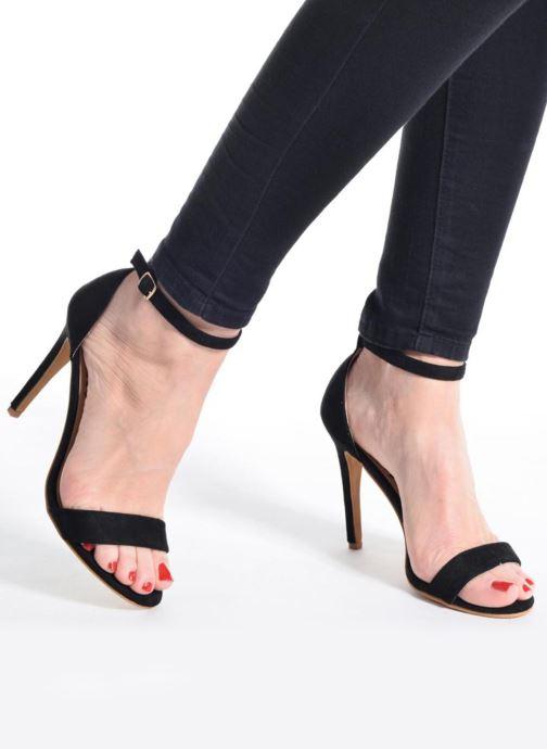 Sandales et nu-pieds Refresh Dedram Noir vue bas / vue portée sac