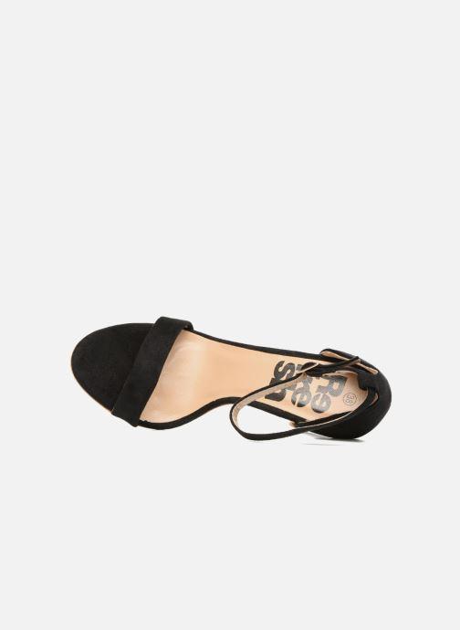 Sandales et nu-pieds Refresh Dedram Noir vue gauche