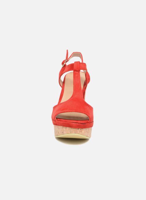 Sandales et nu-pieds Refresh Pero Rouge vue portées chaussures