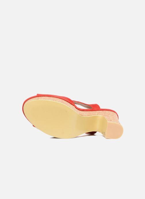 Sandales et nu-pieds Refresh Pero Rouge vue haut