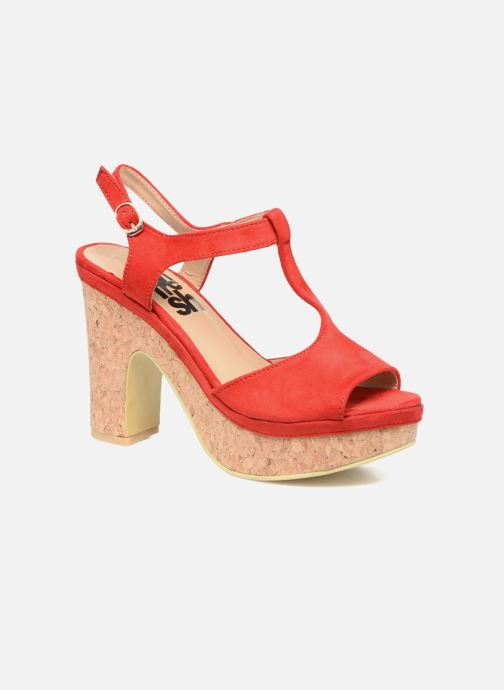 Sandales et nu-pieds Refresh Pero Rouge vue détail/paire