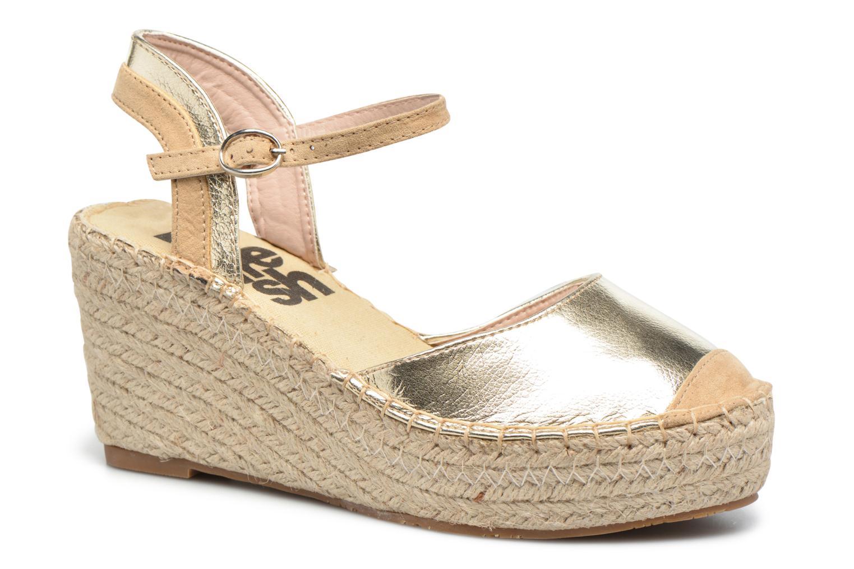 Sandaler Refresh Majan Guld og bronze detaljeret billede af skoene