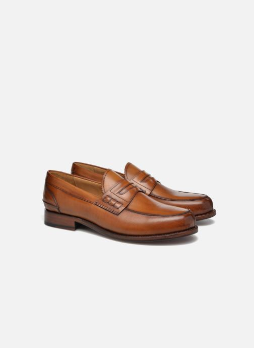 Mocassins Marvin&Co Luxe Walsall - Cousu Goodyear Marron vue 3/4