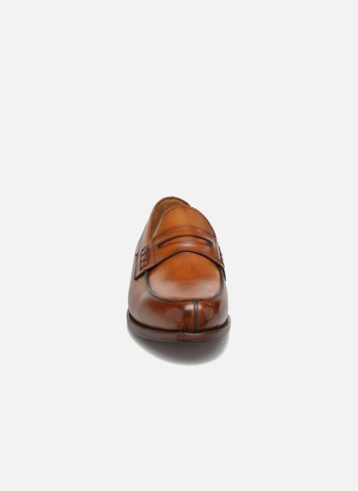 Mocassins Marvin&Co Luxe Walsall - Cousu Goodyear Marron vue portées chaussures