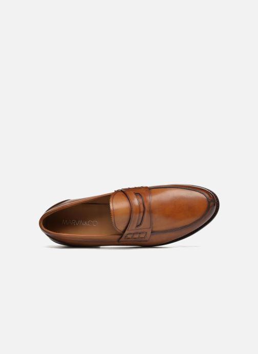 Mocassins Marvin&Co Luxe Walsall - Cousu Goodyear Marron vue gauche