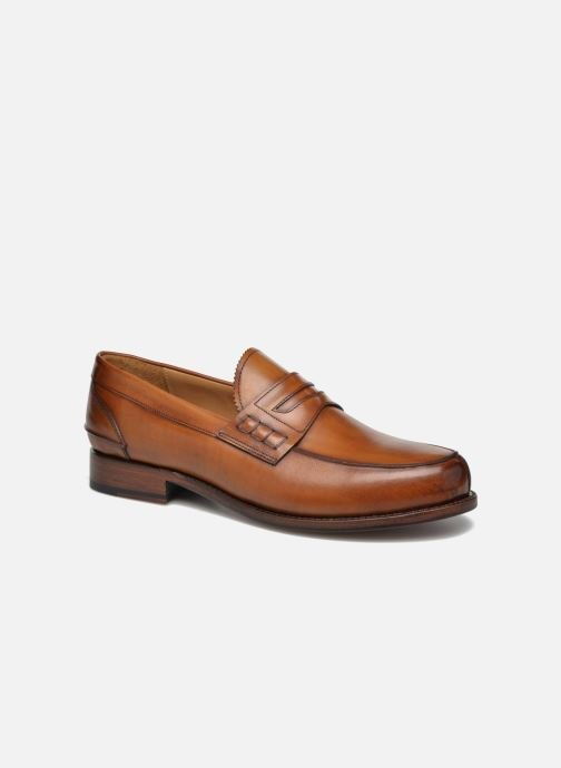 Mocassins Marvin&Co Luxe Walsall - Cousu Goodyear Marron vue détail/paire