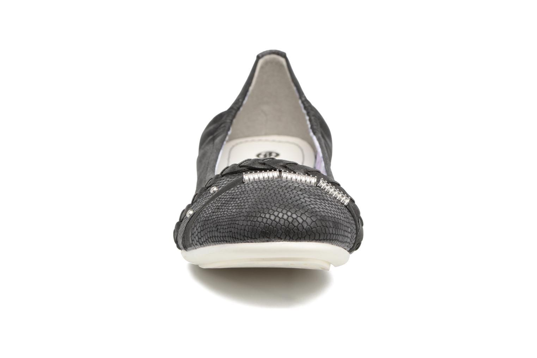 Ballerines Dockers Oli Noir vue portées chaussures
