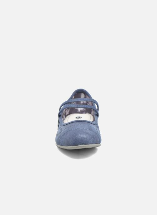 Ballerines Dockers Larah Bleu vue portées chaussures