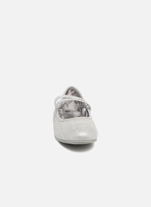 Ballerines Dockers Larah Gris vue portées chaussures
