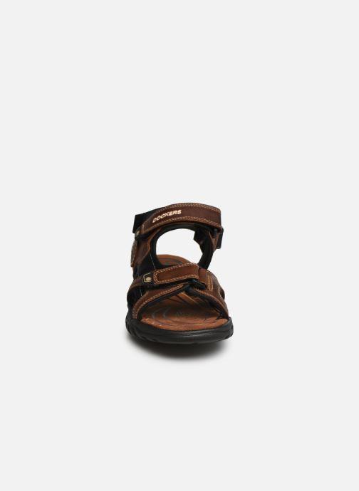Sandales et nu-pieds Dockers Léoni Marron vue portées chaussures