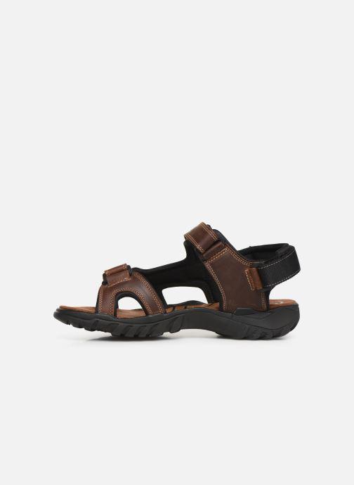 Sandales et nu-pieds Dockers Léoni Marron vue face