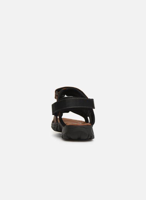 Sandales et nu-pieds Dockers Léoni Marron vue droite
