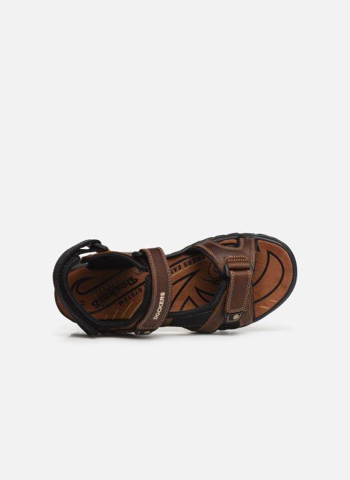 Sandales et nu-pieds Dockers Léoni Marron vue gauche