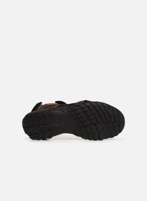 Sandales et nu-pieds Dockers Léoni Marron vue haut