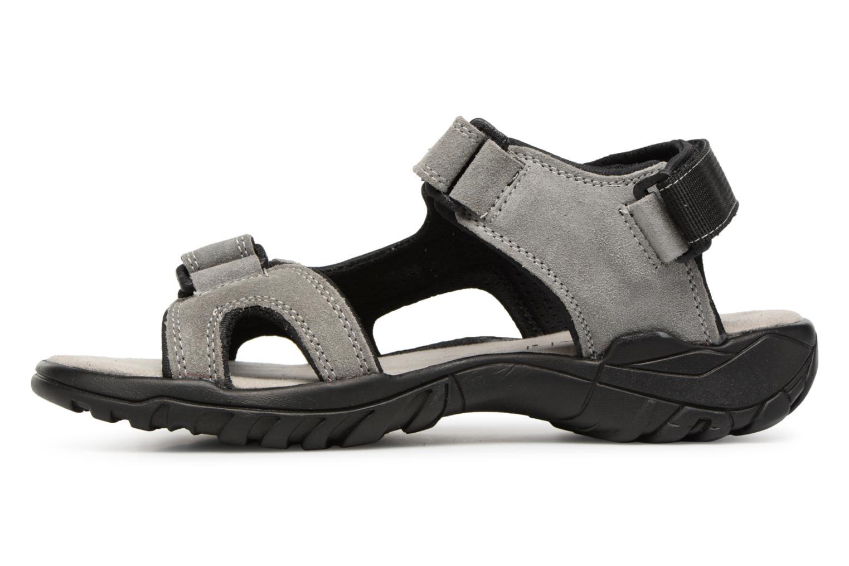 Sandales et nu-pieds Dockers Léoni Gris vue face