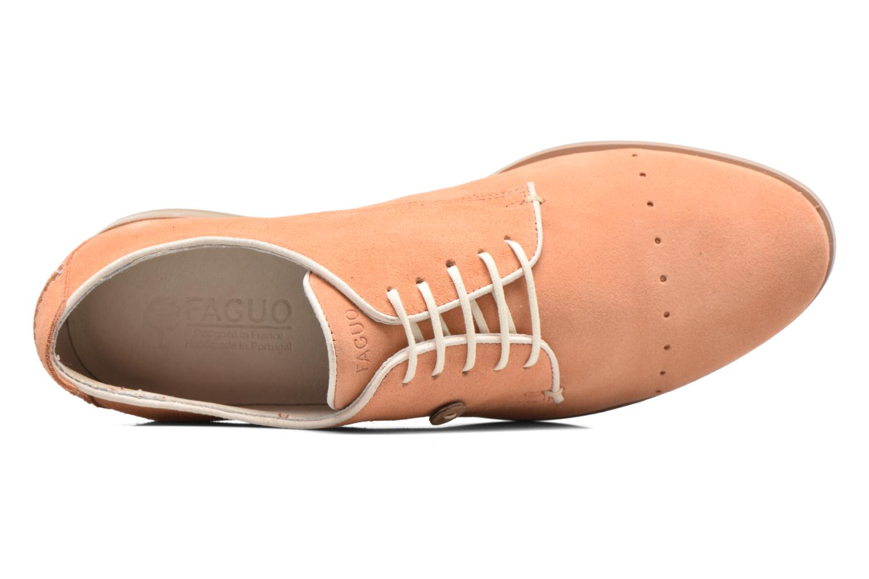 Chaussures à lacets Faguo Rose02 Orange vue gauche