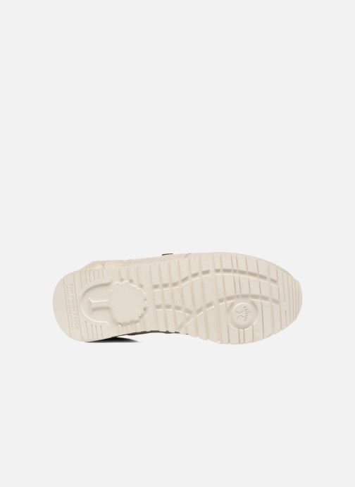 Baskets Faguo Olive03 Argent vue haut