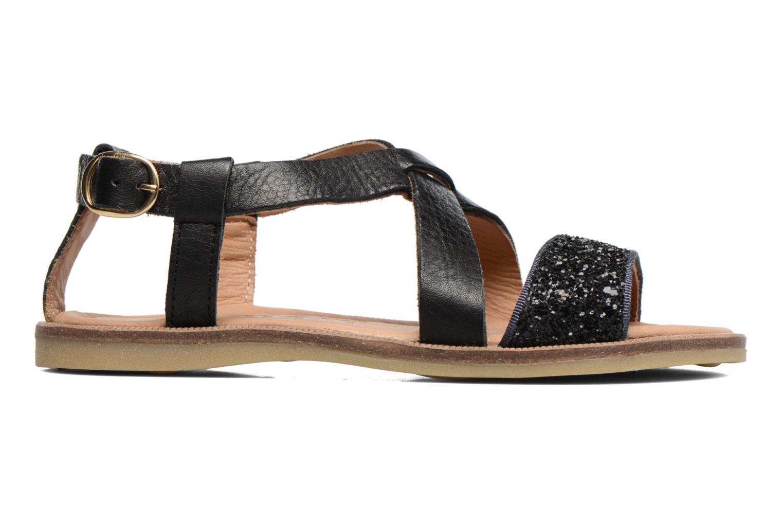 Sandales et nu-pieds Bisgaard Mia Noir vue derrière