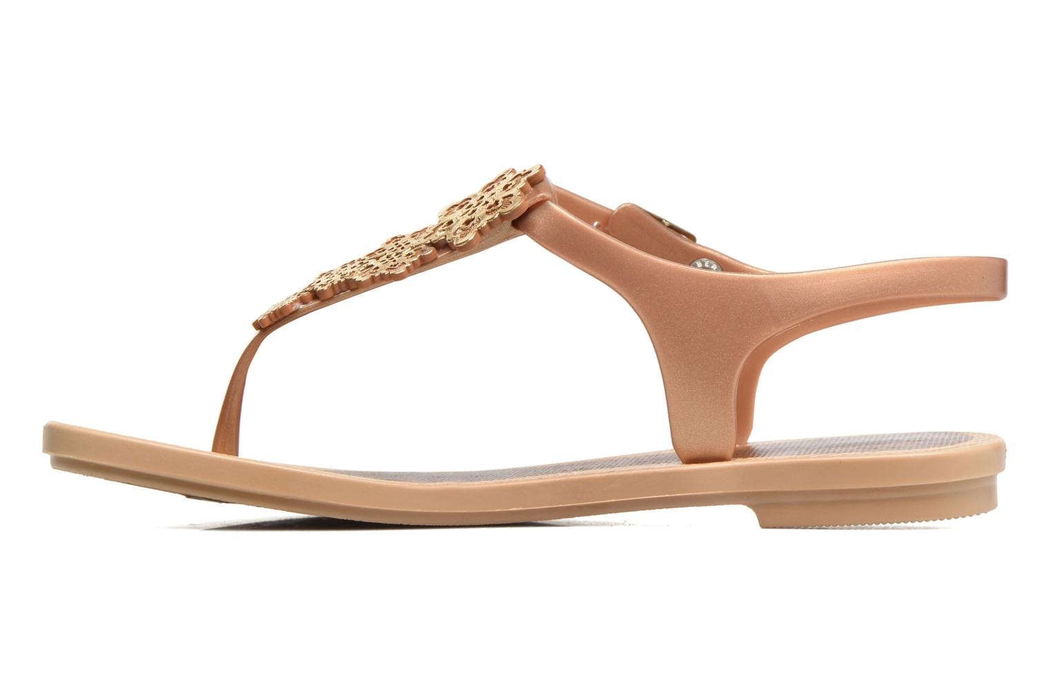 Sandals Grendha Romantic Sandal Fem Brown front view