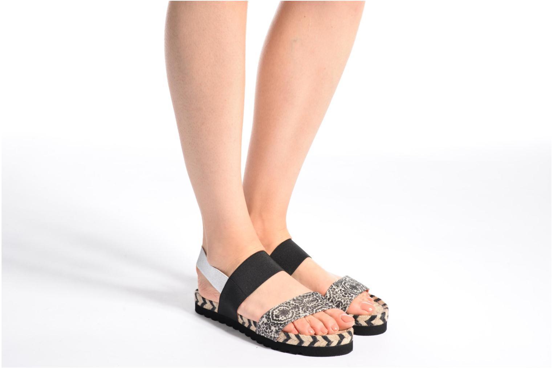 Sandales et nu-pieds Desigual SHOES_FORMENTERA Noir vue bas / vue portée sac