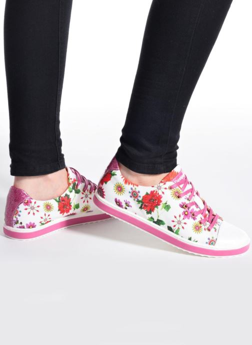 Trainers Desigual SHOES_SUPPER HAPPY Multicolor view from underneath / model view