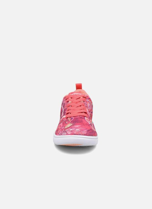 Baskets Desigual SHOES_CAMDEN Rose vue portées chaussures