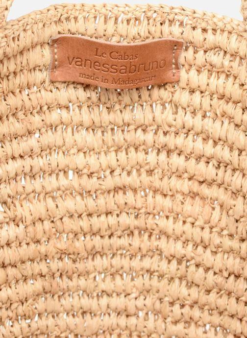 Sacs à main Vanessa Bruno Cabas raphia paillettes L Beige vue derrière