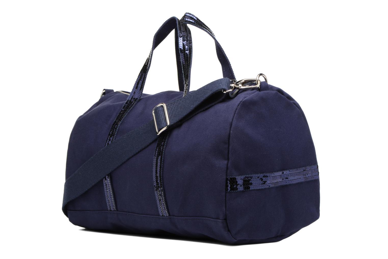 Sporttassen Vanessa Bruno Gym bag paillettes Blauw rechts