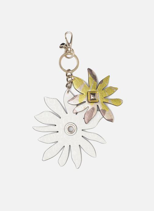 Divers Guess DEVYN KEYRING Flower keychain Blanc vue détail/paire