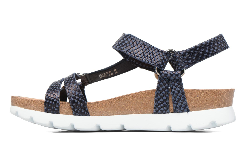 Sandalen Panama Jack Sally snake Blauw voorkant