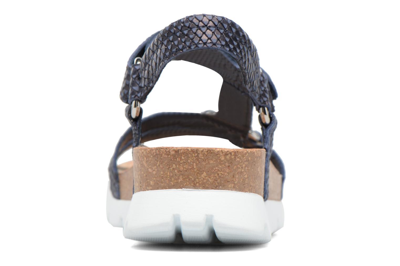 Sandalen Panama Jack Sally snake Blauw rechts
