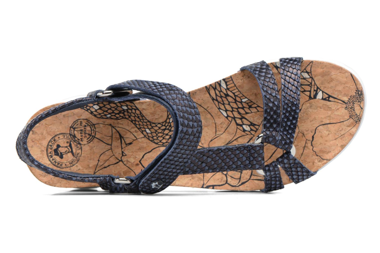 Sandalen Panama Jack Sally snake Blauw links