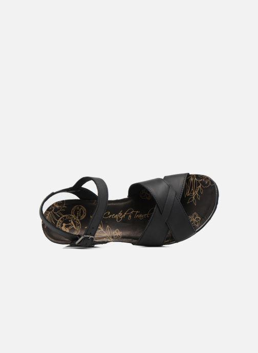 Sandales et nu-pieds Panama Jack Vika Noir vue gauche