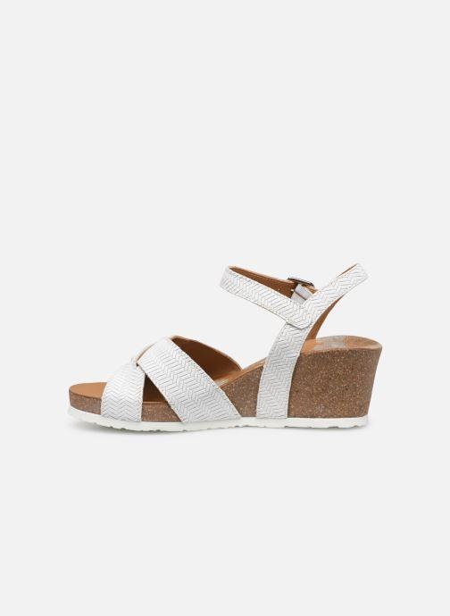 Sandales et nu-pieds Panama Jack Vika Blanc vue face