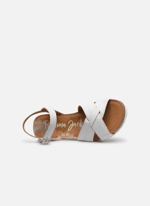 Sandales et nu-pieds Panama Jack Vika Blanc vue gauche