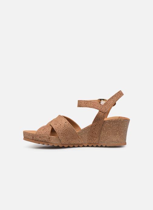 Sandales et nu-pieds Panama Jack Vika Marron vue face