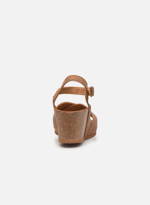 Sandales et nu-pieds Panama Jack Vika Marron vue droite